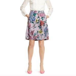 EUC 🌷Boden Grace A-Line Floral Skirt with Bow